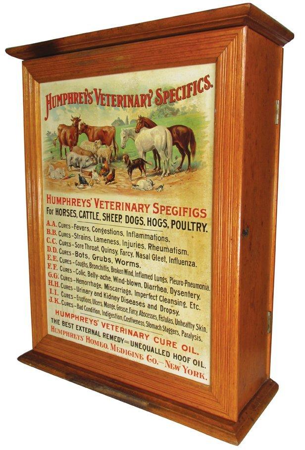Humphreys' Veterinary Specifics Store Cabinet
