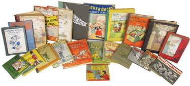 Collection of 23 Antique and Vintage Children's Books