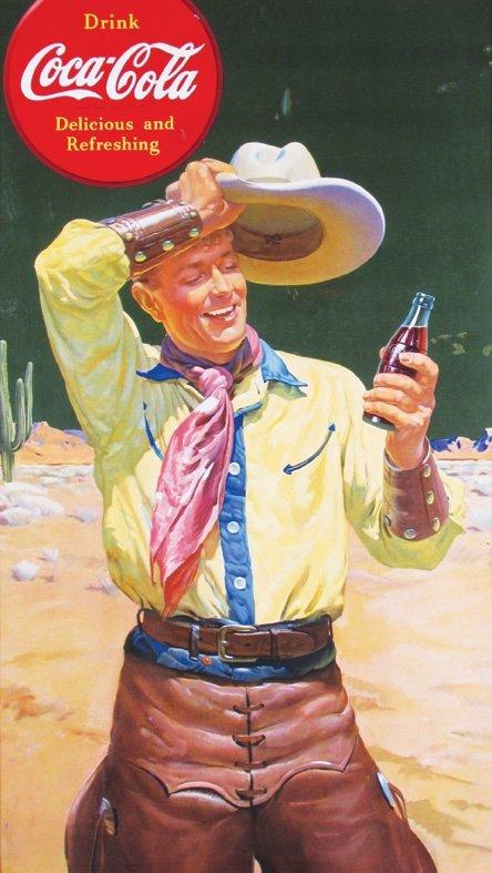 Rare Coca Cola Cardboard Poster