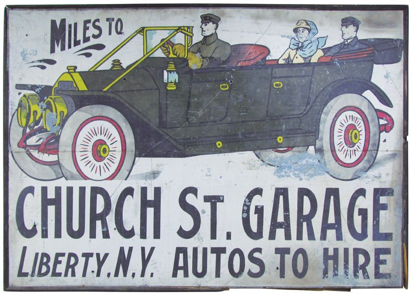Extremely Rare Ithaca Sign Works Tin Sign