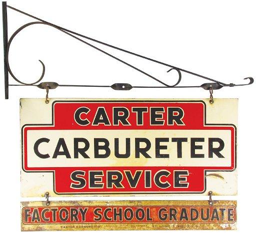 Carter Carburetor Service Auto Porcelain Sign