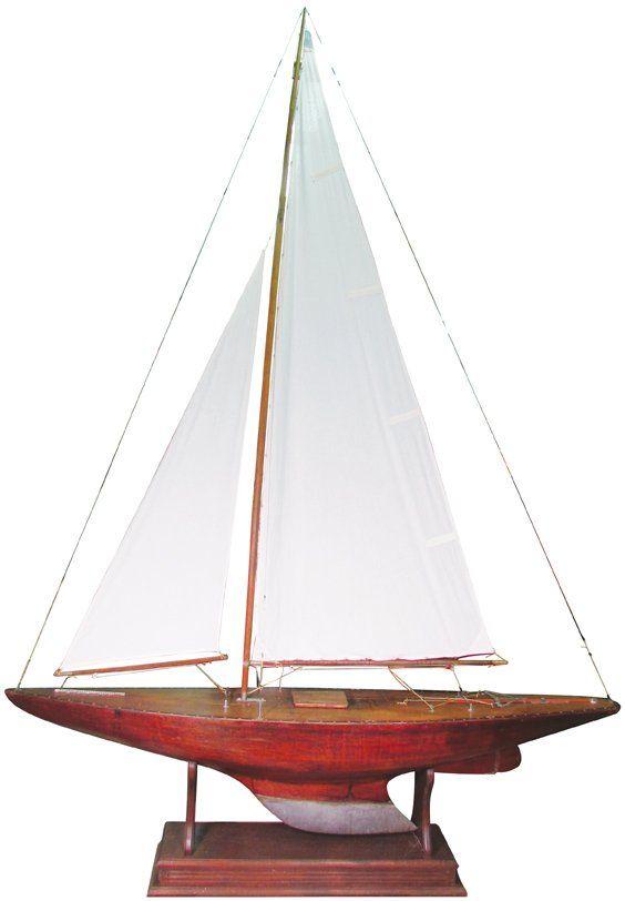 Vintage International Class Pond Yacht, over 6' tall