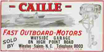 Caille Fast Outboard-Motors Embossed Tin Sign
