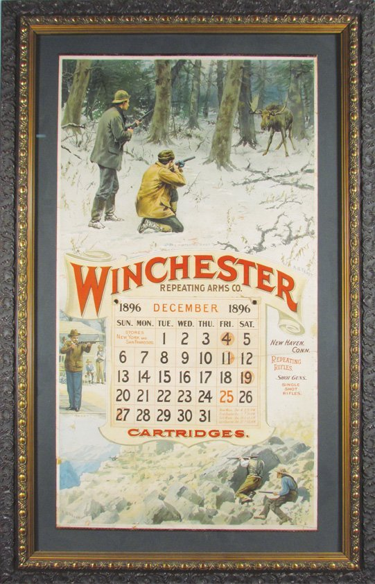 1896 Calendar for Winchester Repeating Arms Co. - 2