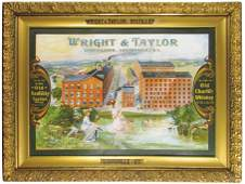 Wright & Taylor Whiskey Tin Sign
