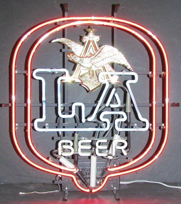 Anheuser Busch LA Beer Neon Sign