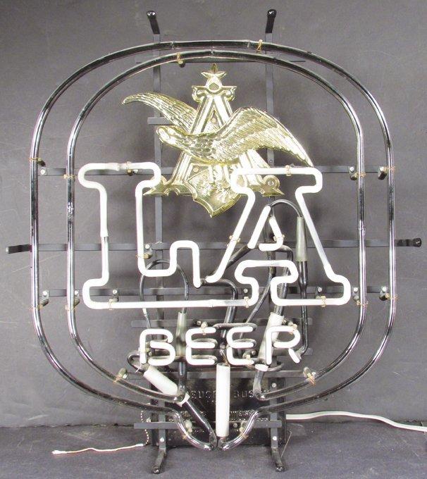 Anheuser Busch LA Beer Neon Sign - 3