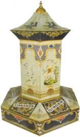 Rare Pagoda Tin Country Store Spice Bin