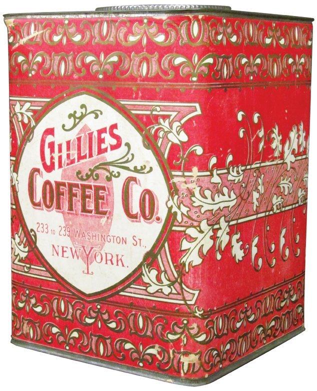 Gillies Coffee 5# Cardboard Bin