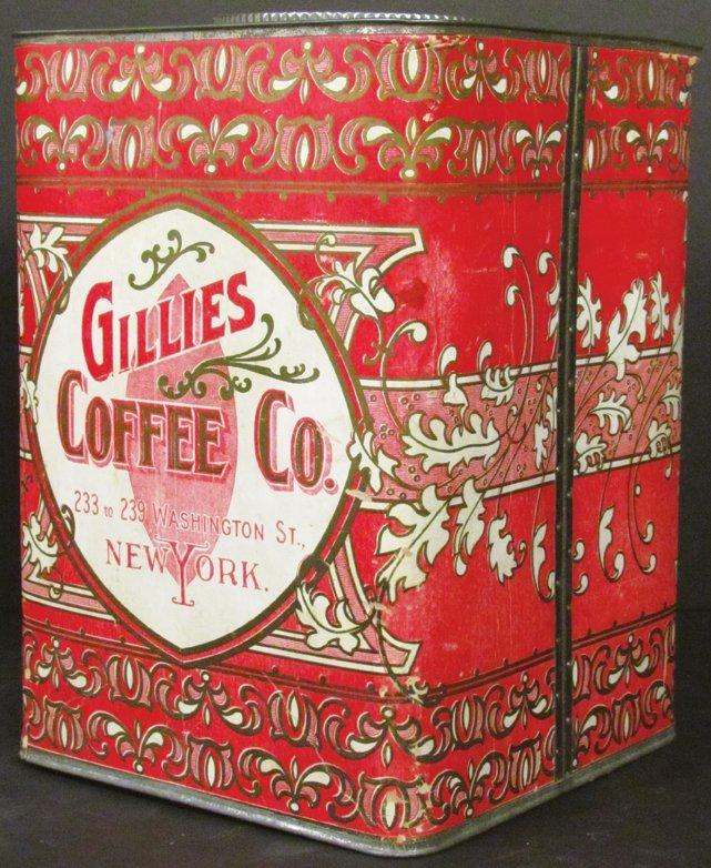 Gillies Coffee 5# Cardboard Bin - 2