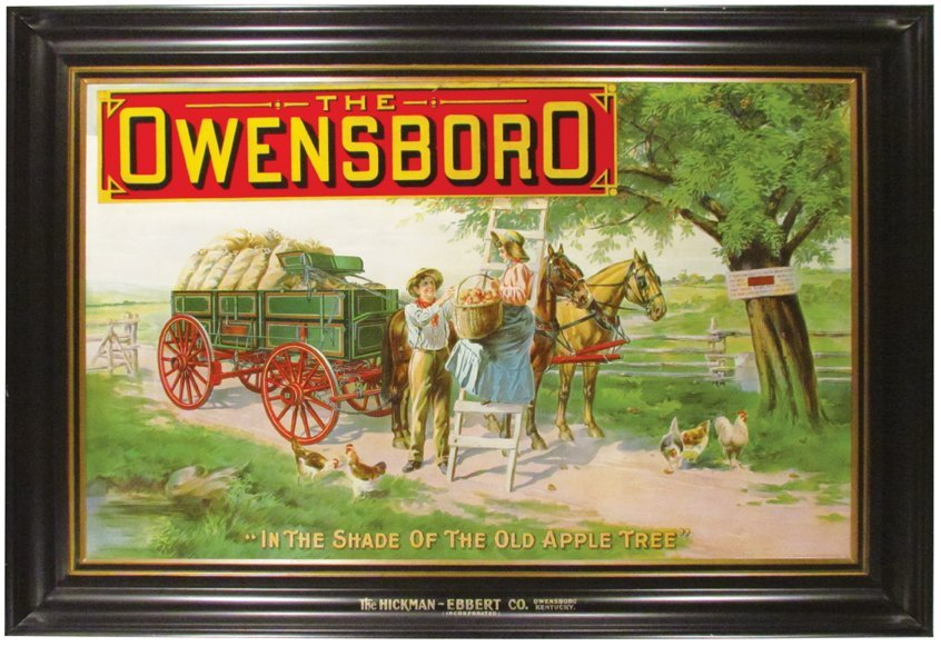 The Owensboro Wagon Self Framed Tin Sign