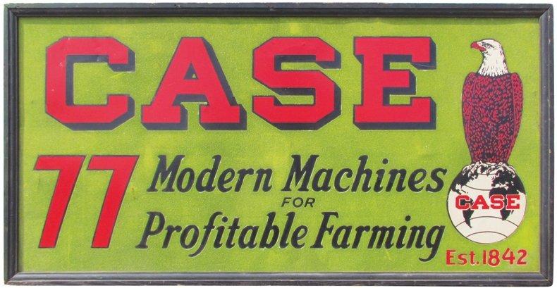 Case Farm Tin Sand Sign