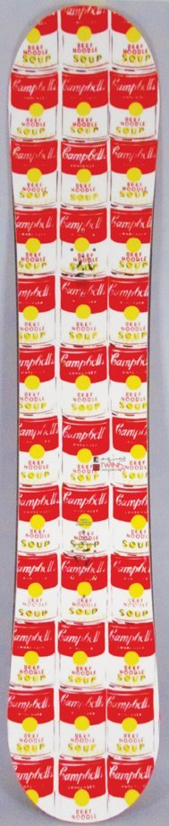 Andy Warhol Campbell Soup Snowboard