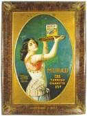 Murad Turkish Cigarette Tin Sign