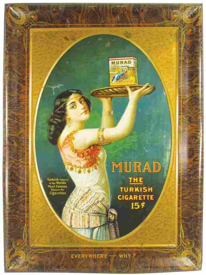 Murad Turkish Cigarette Tin Sign