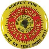 Superior Stoves & Ranges Porcelain Sign