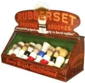 Rubberset Shaving Brushes Tin Store Display