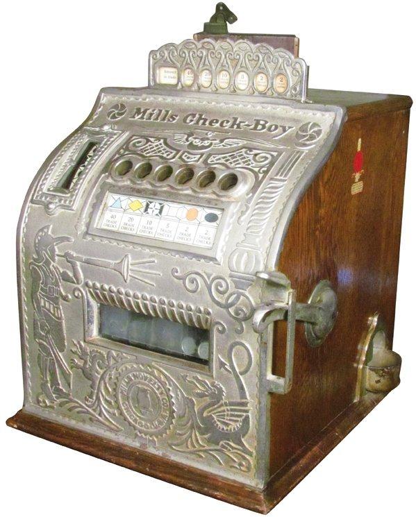 Rare Mills Check-Boy Slot Machine