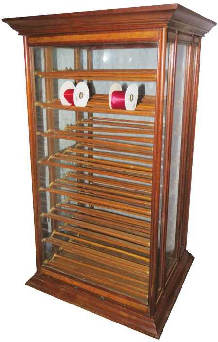 Ribbon Cabinet - Exhibition Showcase Co. Ribbon Cabinet