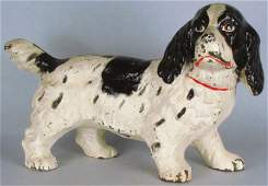 Hubley Cast Iron Springer Spaniel Door Stop