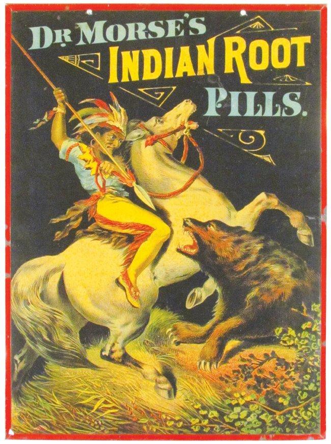 Dr. Morse's Indian Root Pills Tin Sign