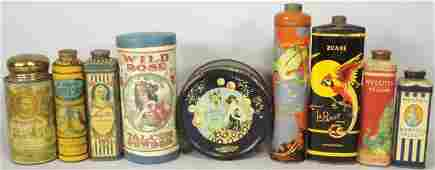 Collection of Early Talcum Powder Tins
