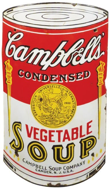 Campbell's Soup Curved Porcelain Sign