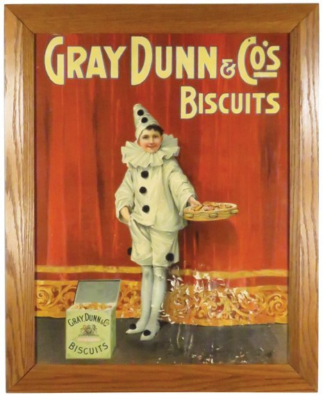 Gray Dunn & Co's Biscuit Paper Sign