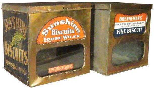 Sunshine & Brenneman's Peerless Biscuit Boxes