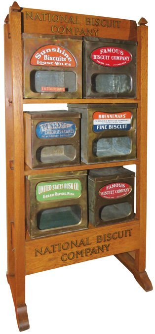 National Biscuit Company Wood Store Display Rack