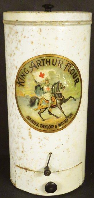 King Arthur Flour Tin Store Dispensing Bin