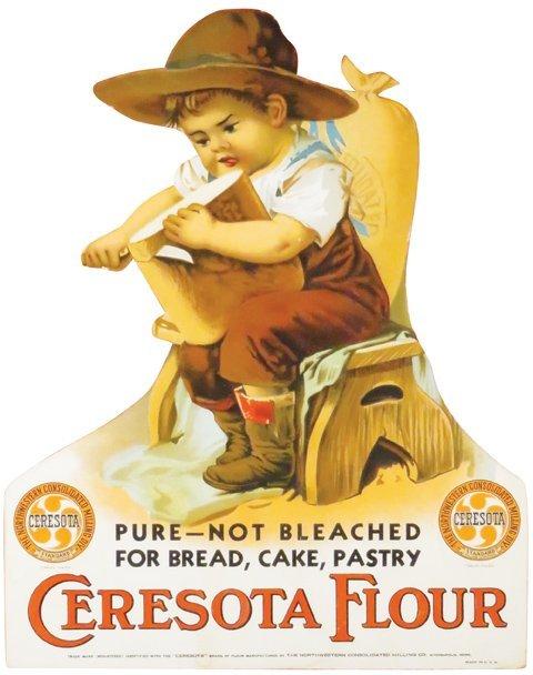 Ceresota Flour Die Cut Cardboard Easel Back Sign