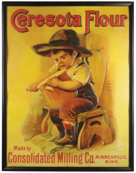 Rare Ceresota Flour Embossed Tin Sign