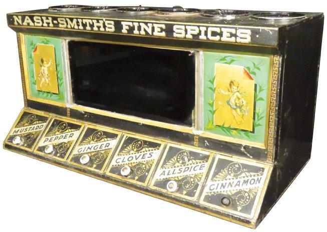 Nash-Smith's Fine Spice Store Tin Display Bin