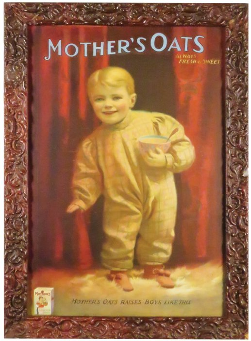Mother's Oats Paper Advertising Sign