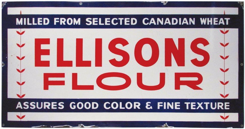 Ellison's Flour Porcelain Sign