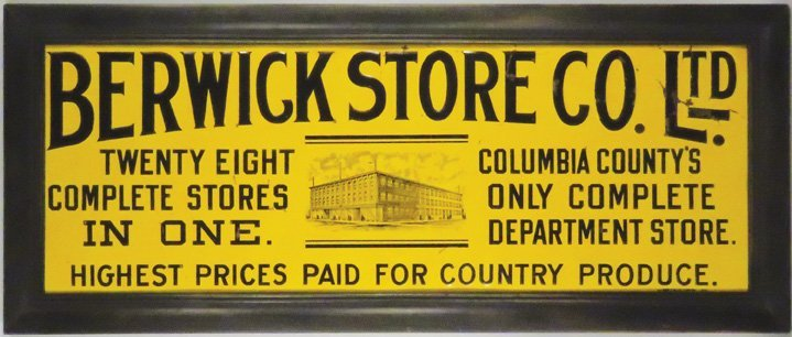 Berwick Store Co. Ltd. Embossed Tin Sign