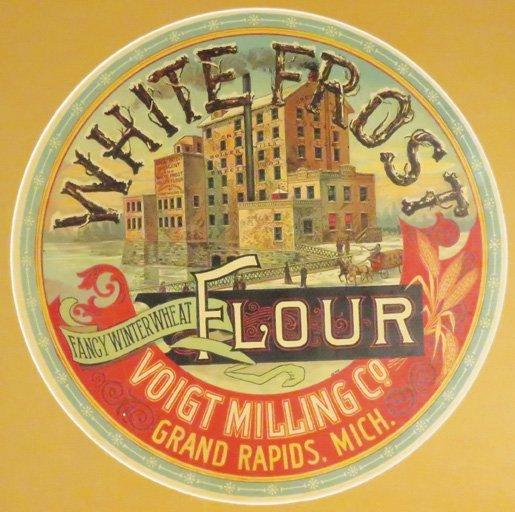 White Frost Flour Barrel Label
