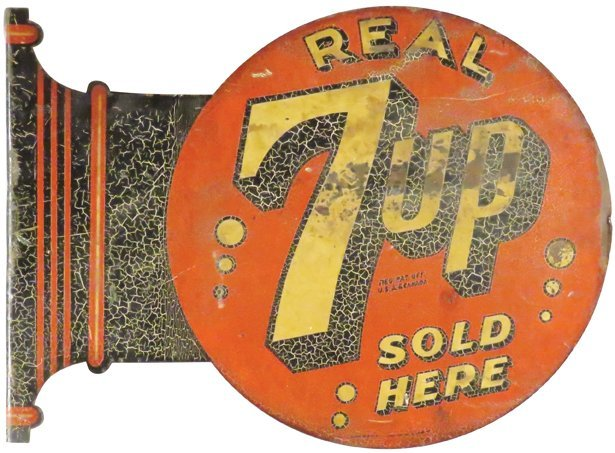 7-Up Steel Flange Sign