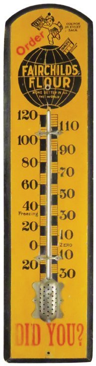 Fairchild's Flour Wood Thermometer
