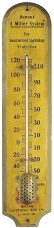 Miller Lightning Rod Co. Wood Thermometer