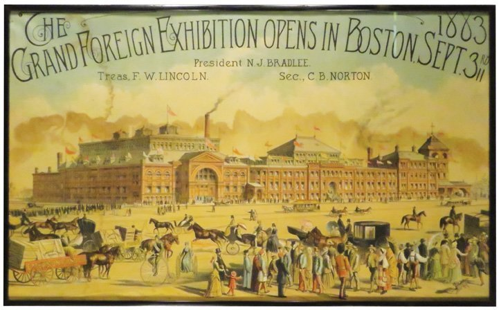 The Grand Foreign Exhibition Boston 1883 Poster