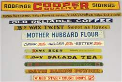Collection of Country Store Tin Shelf Strips