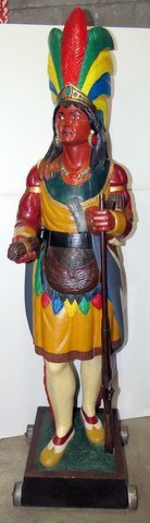Late 1800's Wood Cigar Store Indian - 2