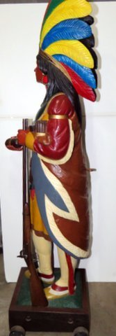 Late 1800's Wood Cigar Store Indian - 3