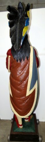 Late 1800's Wood Cigar Store Indian - 4