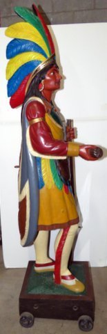 Late 1800's Wood Cigar Store Indian - 5
