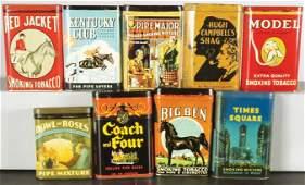 Collection of Nine Tobacco Pocket Tins