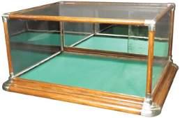 Oak Nickel Cornered Counter Top Showcase