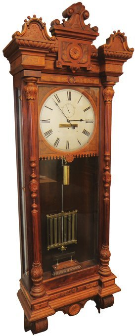 1880 Railroad Regulator Wall Clock